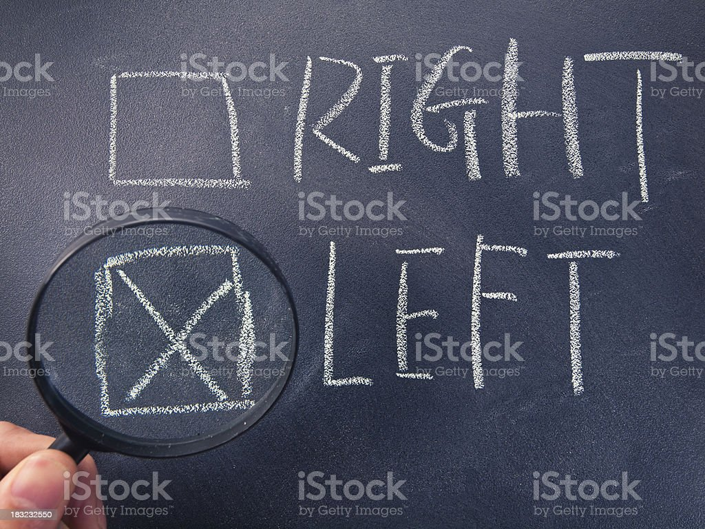 right and left checkbox royalty-free stock photo