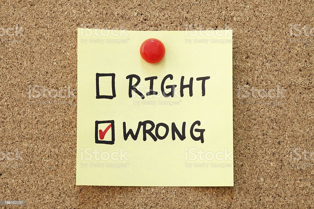 Right and Wrong Checkboxes royalty-free stock photo