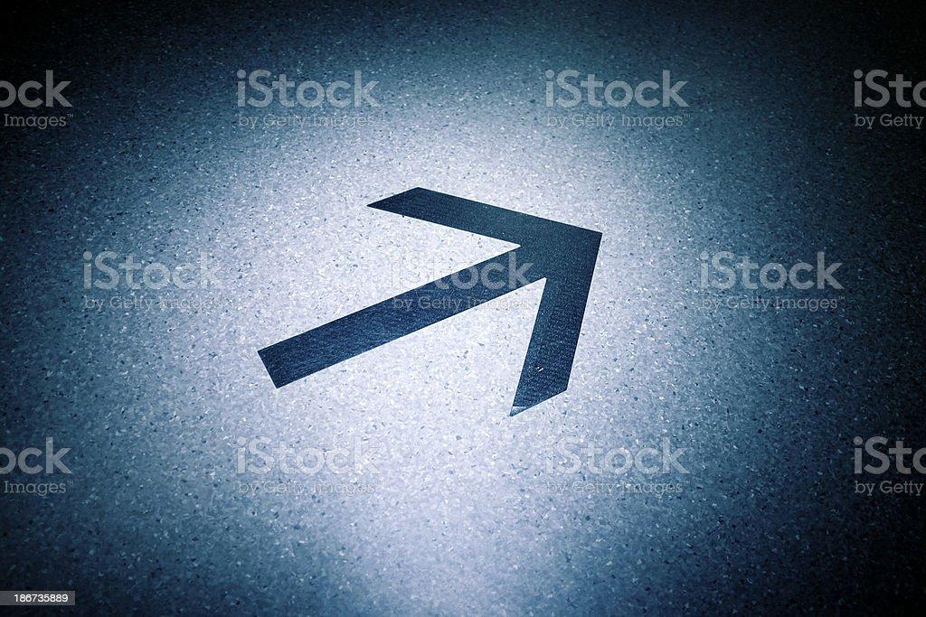 Right Arrow royalty-free stock photo