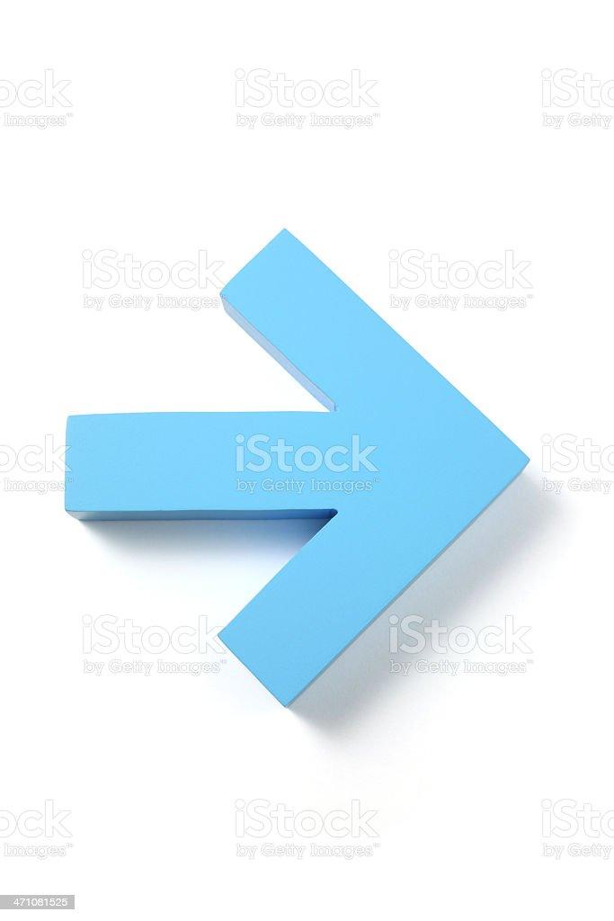 Right Arrow stock photo