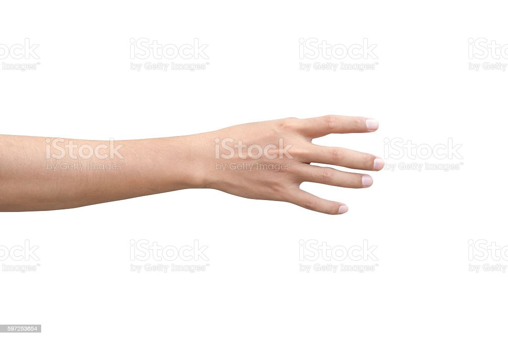 right back hand of a man stock photo