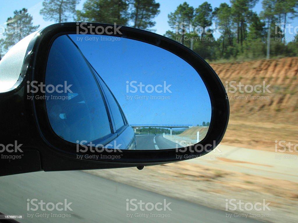 Right car mirror royalty-free stock photo