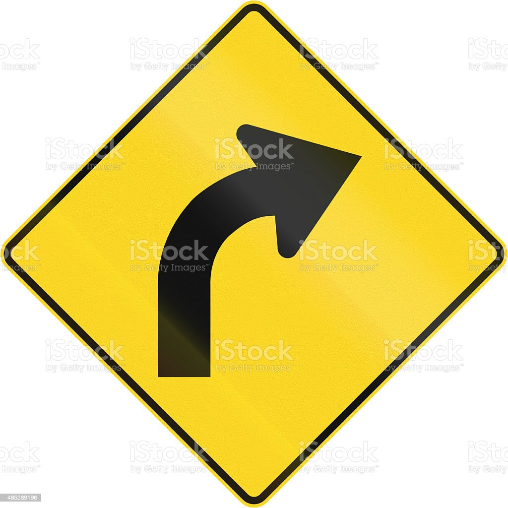 Right Curve Ahead In Canada stock photo