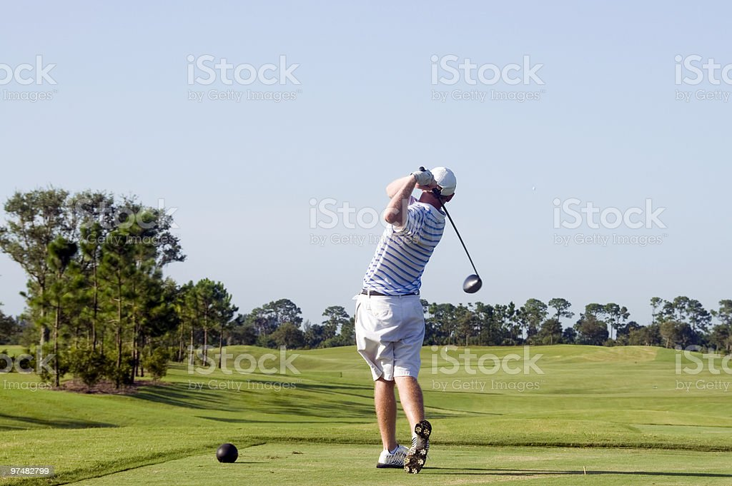 Right Down the Middle royalty-free stock photo