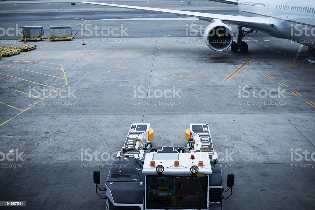 Right half of an airplane royalty-free stock photo