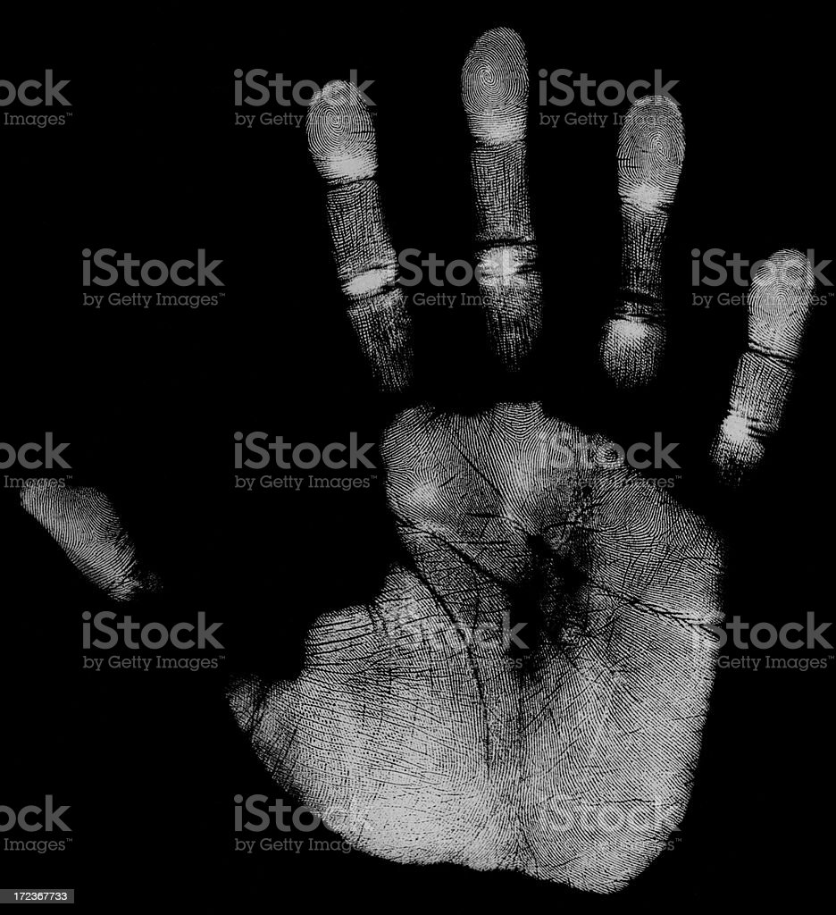 Right hand - negative (51 MegaPixels) royalty-free stock photo
