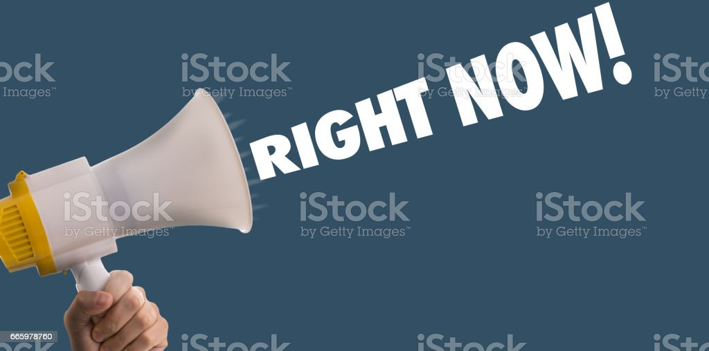 Right Now stock photo