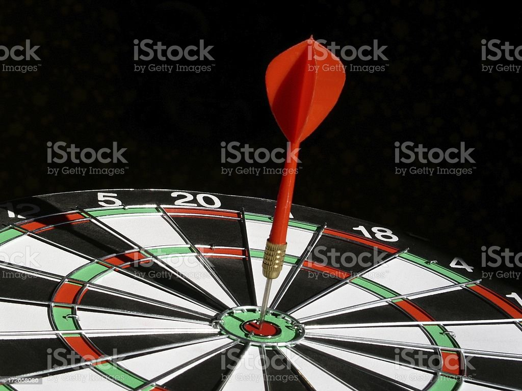Right On Target royalty-free stock photo