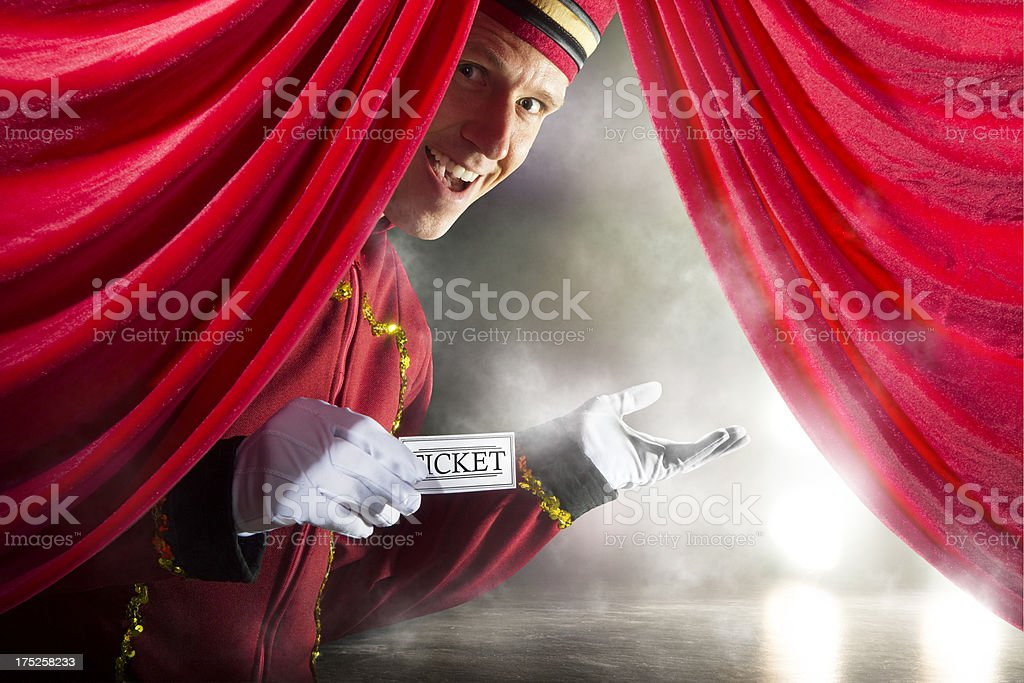 Right this way. royalty-free stock photo