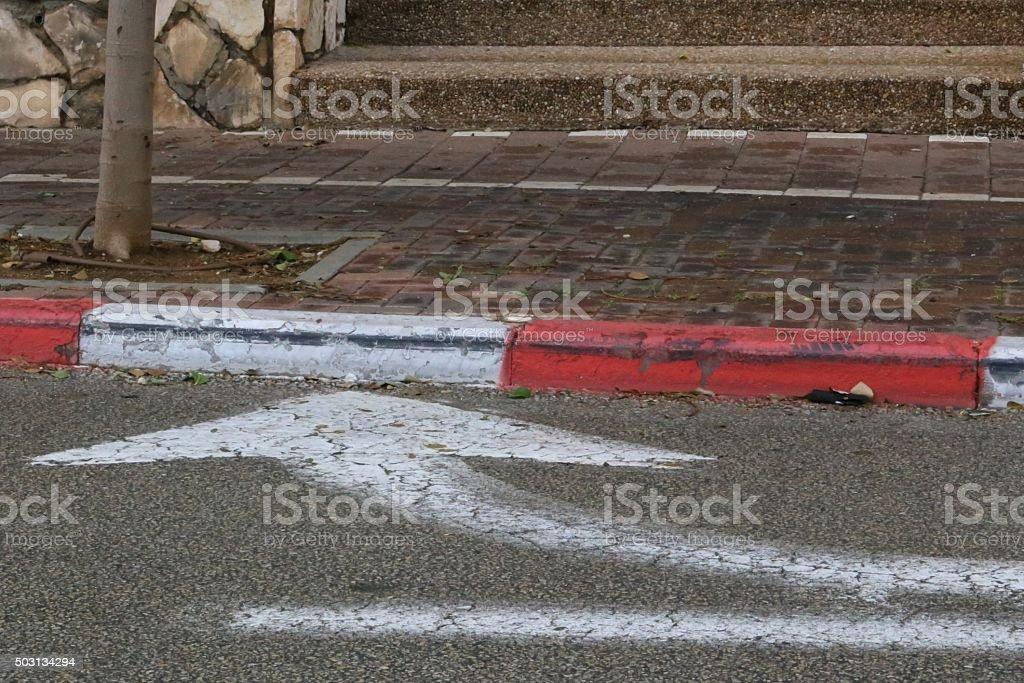 Right Turn Arrow stock photo