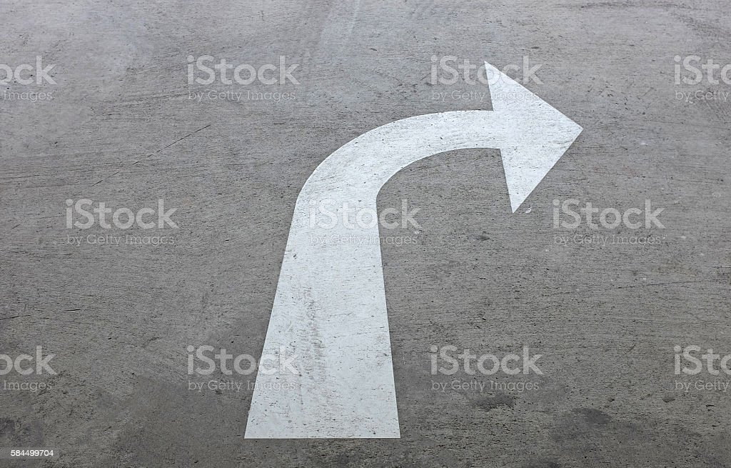 right turn driving of traffic signs stock photo