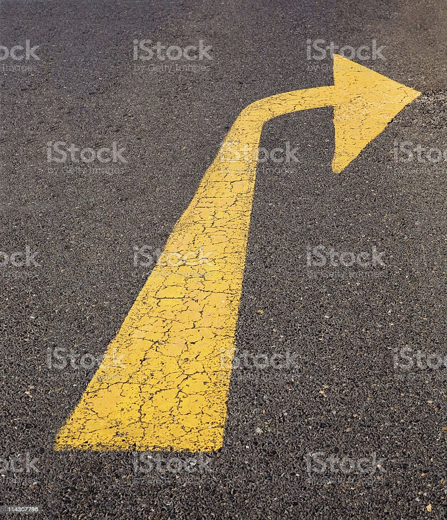 Right turn only (XLarge) royalty-free stock photo