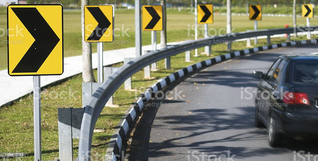 Right Turn royalty-free stock photo