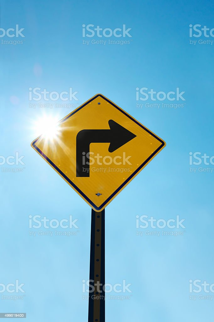 right turn stock photo