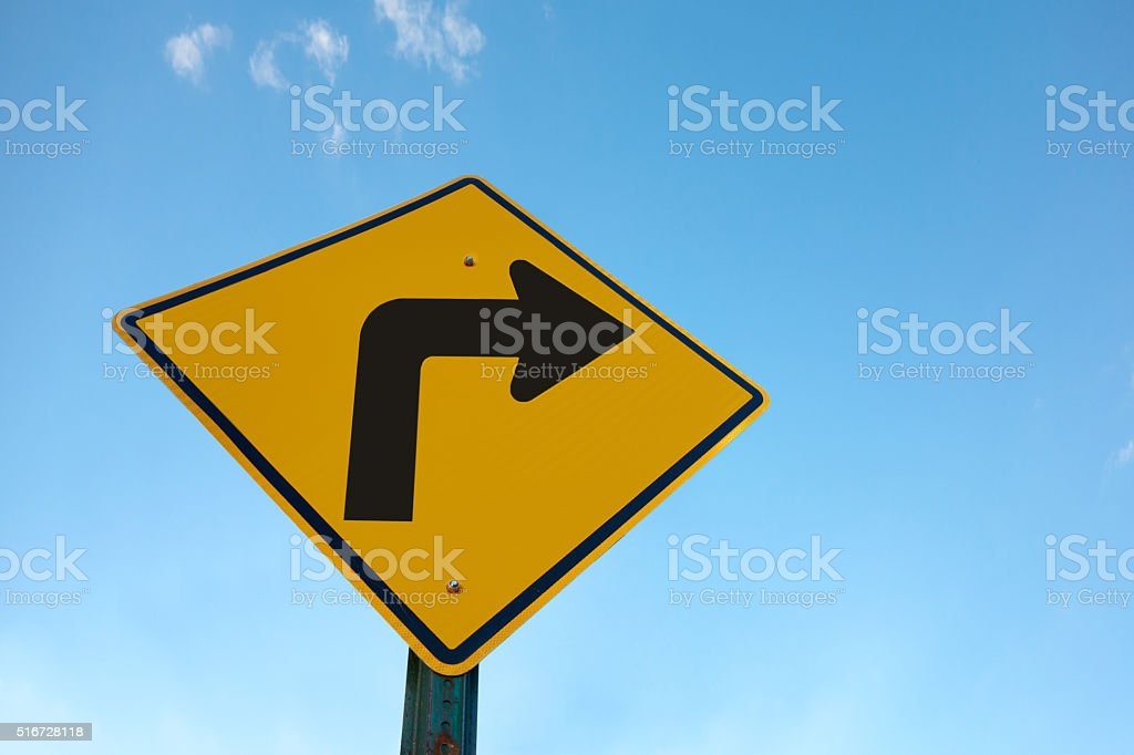 right turn stock photo