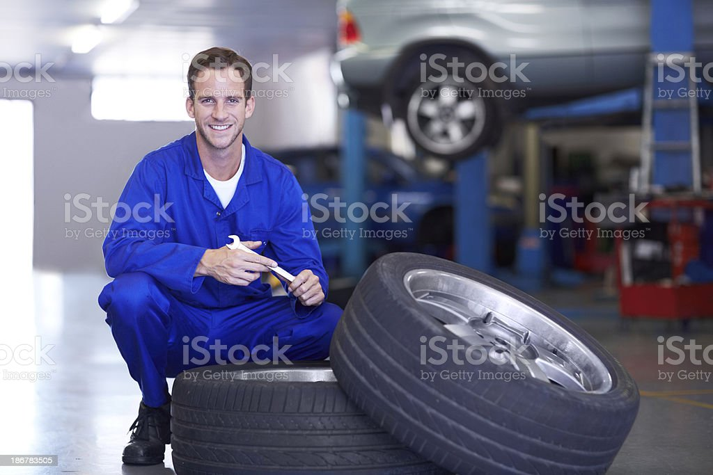 Right tyres are crucial on any vehicle royalty-free stock photo