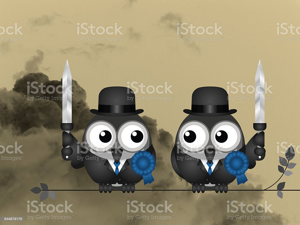 Right wing waring politicians stock photo