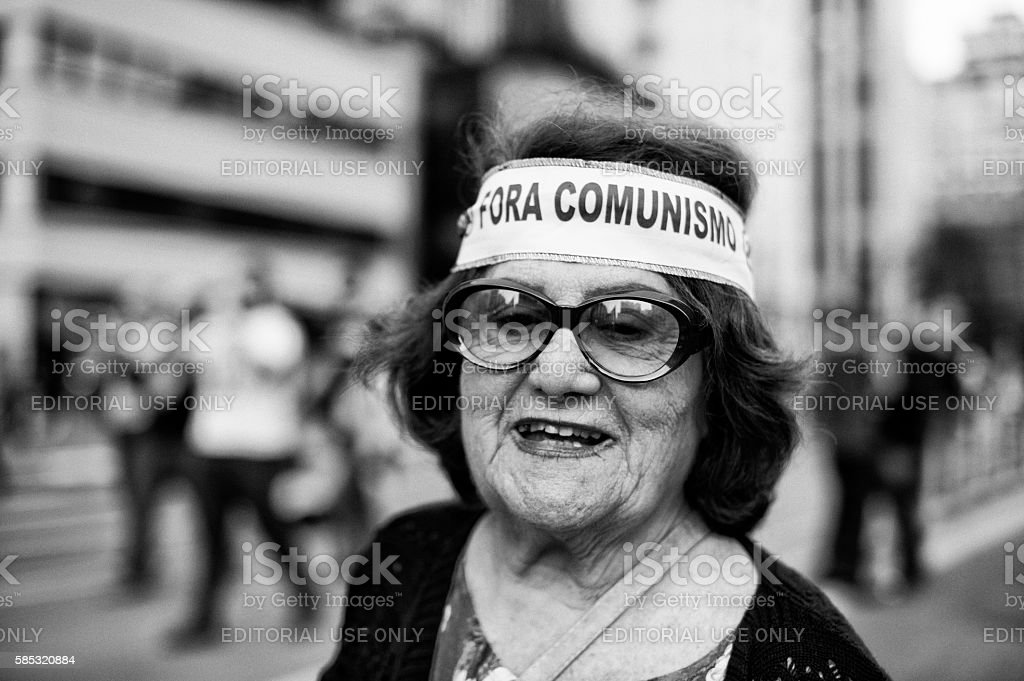 Right-Wing Lady stock photo