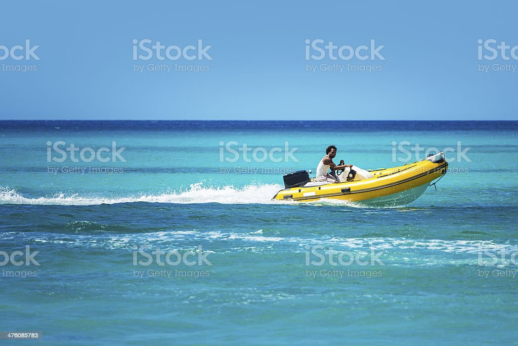 Rigid inflatable boat royalty-free stock photo