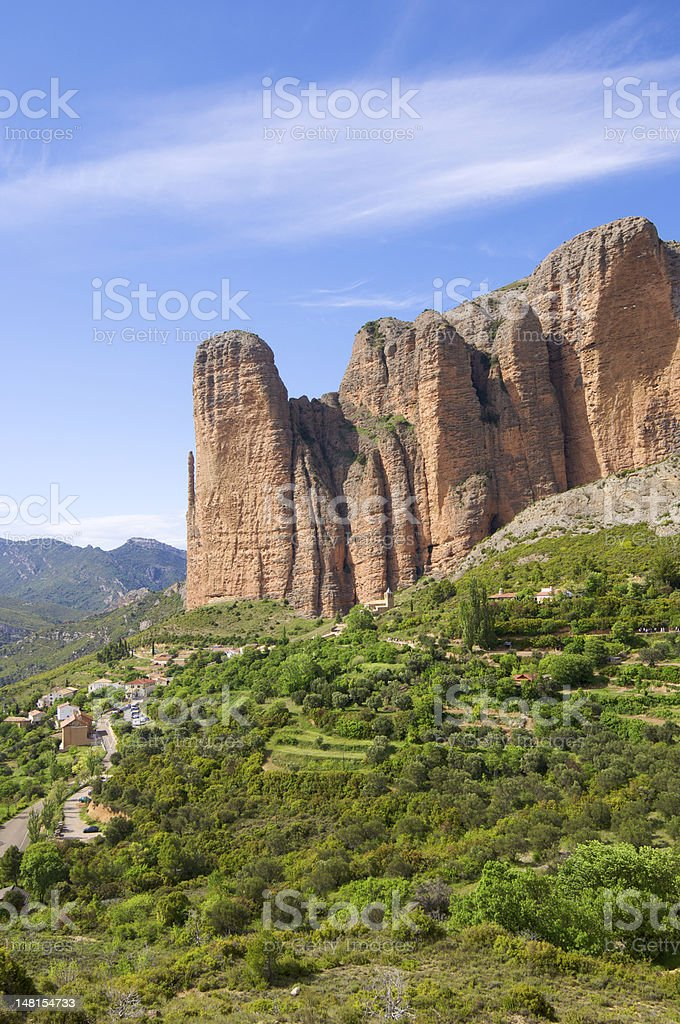 Riglos landscape royalty-free stock photo