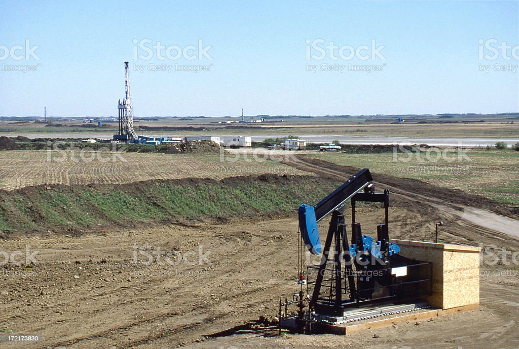 Rigs & Pump Jack royalty-free stock photo