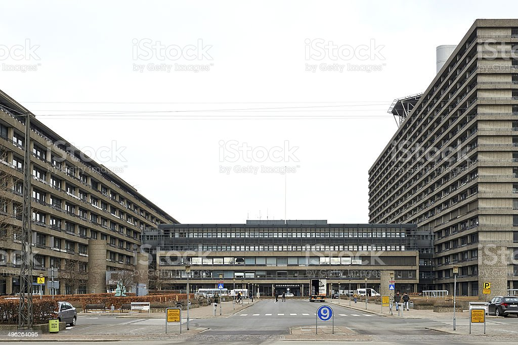 Rigshospitalet, Copenhagen stock photo
