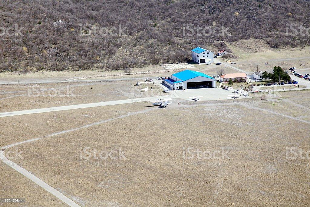 Rijeka airport stock photo
