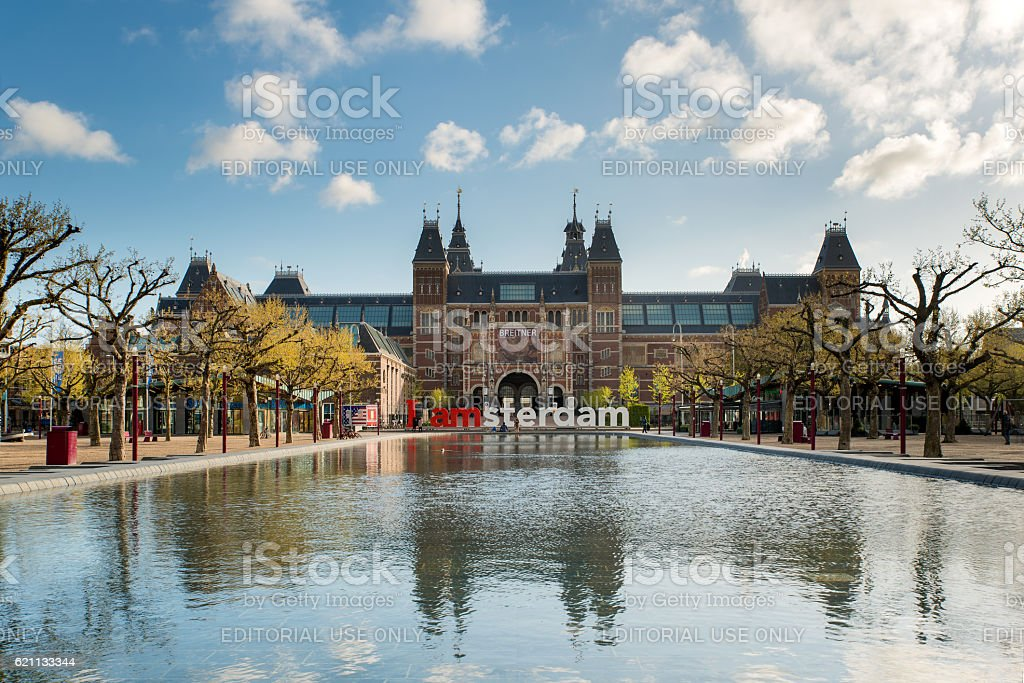 Rijksmuseum Amsterdam museum in Amsterdam, Netherlands. stock photo