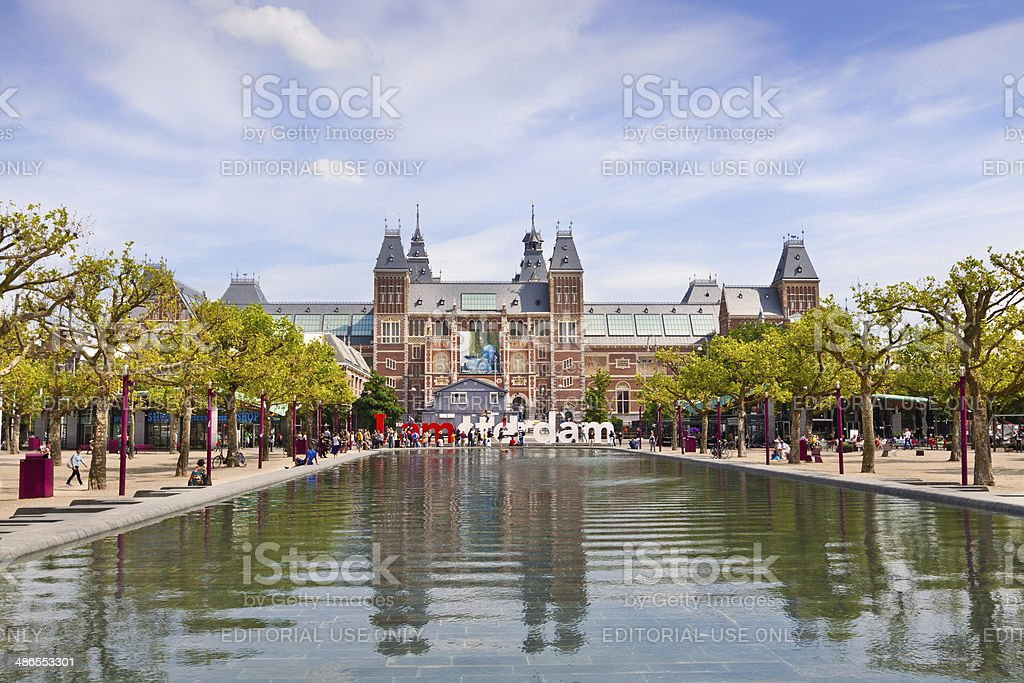 Rijksmuseum, Amsterdam. stock photo