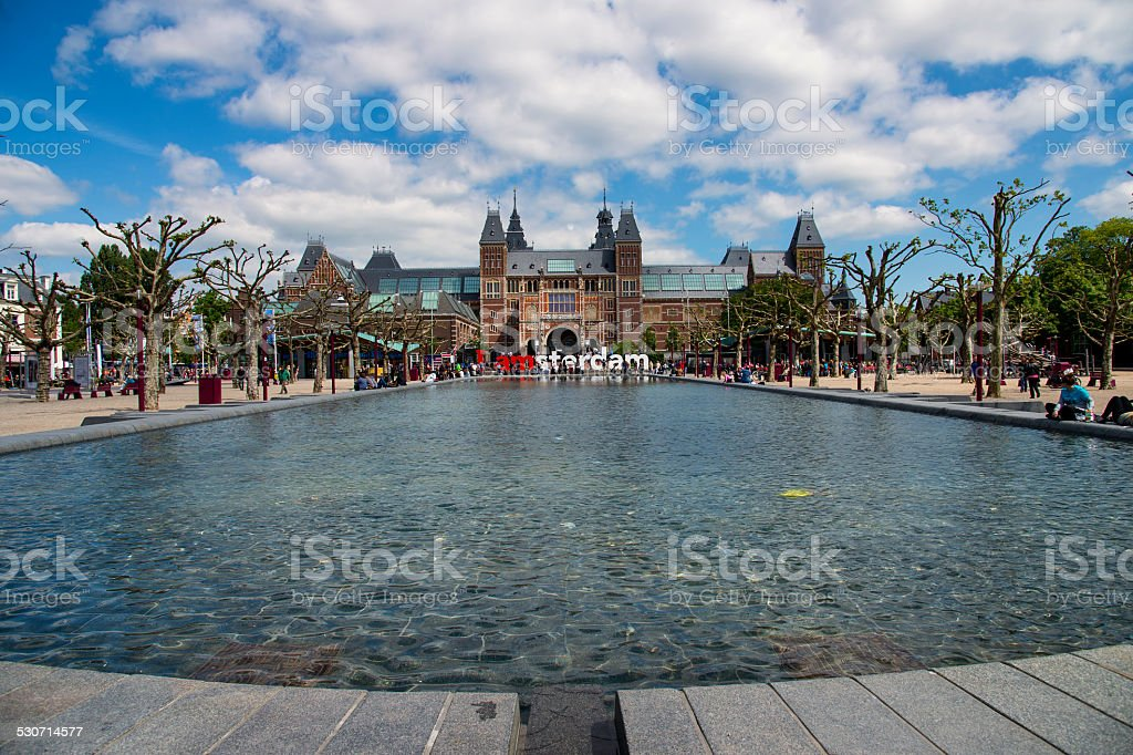 Rijksmuseum at Amsterdam stock photo
