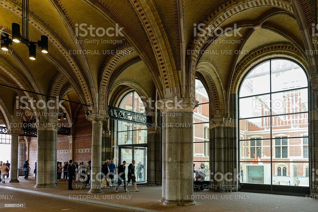 Rijksmuseum Entrance stock photo