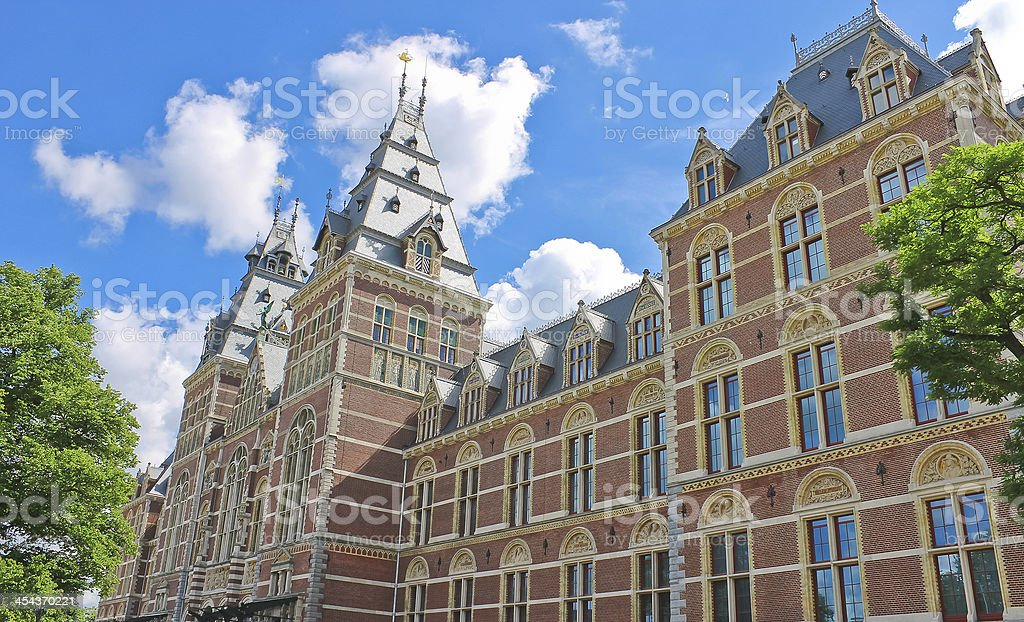 Rijksmuseum in Amsterdam. Netherlands stock photo