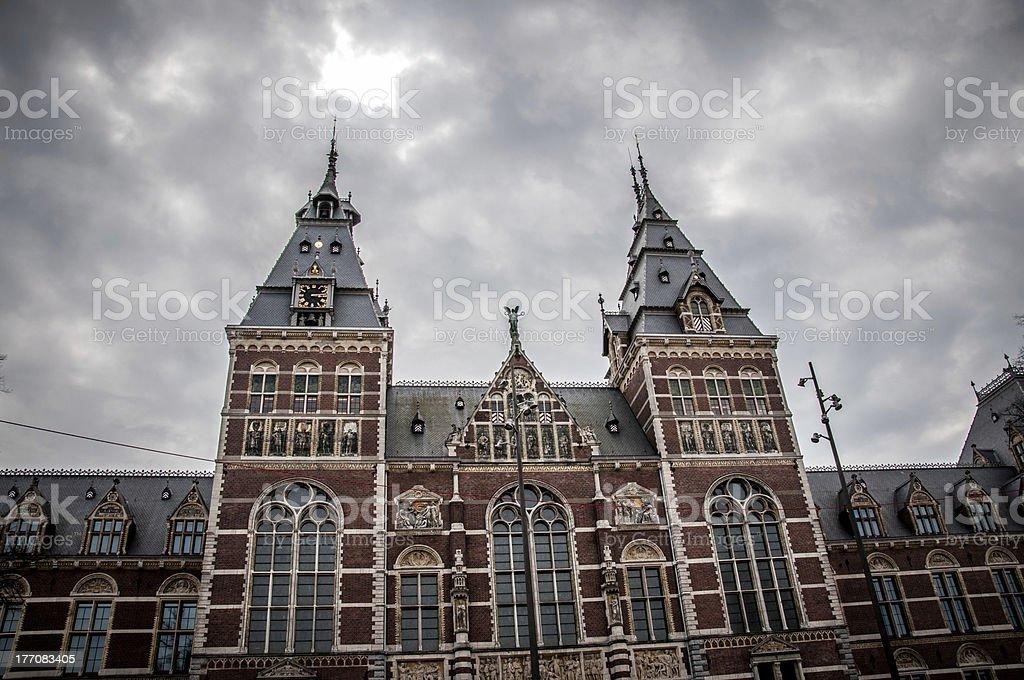 Rijksmuseum in Amsterdam royalty-free stock photo