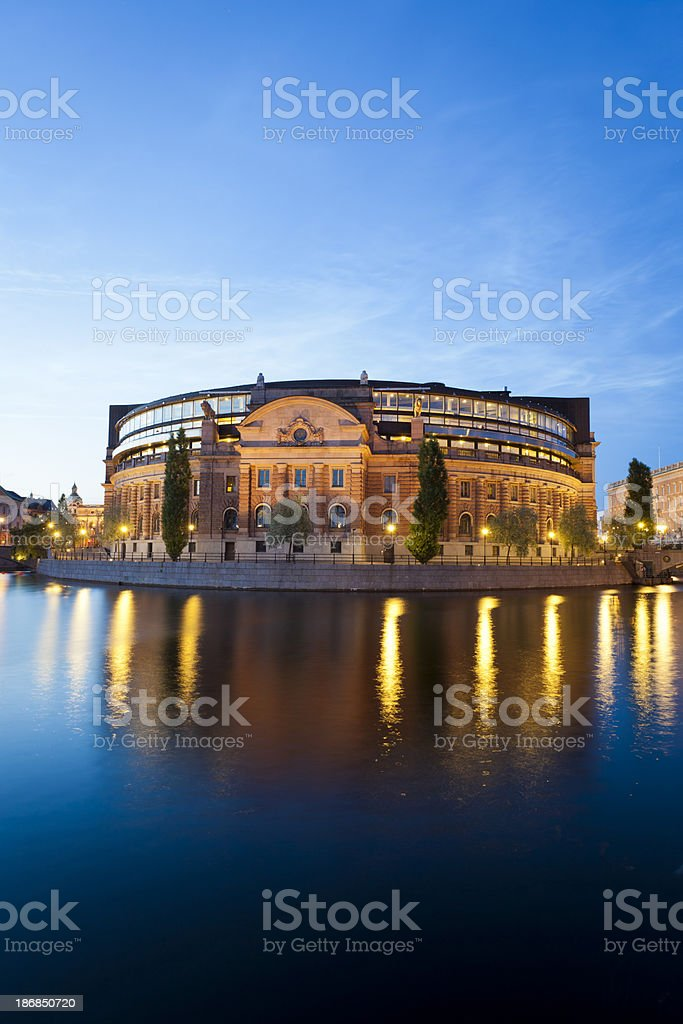 'Riksdag or Parliament building Stockholm, Sweden' stock photo