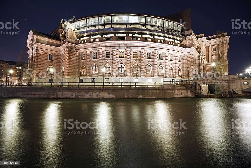 Riksdag stock photo