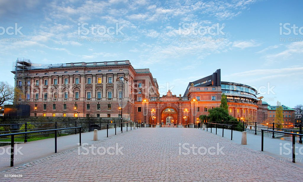 Riksdag - Swedish Parliament. Stockholm stock photo