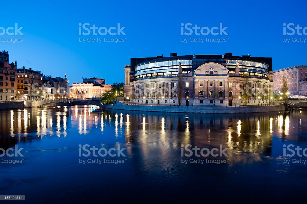 Riksdag, The Swedish Parliament in Stockholm stock photo