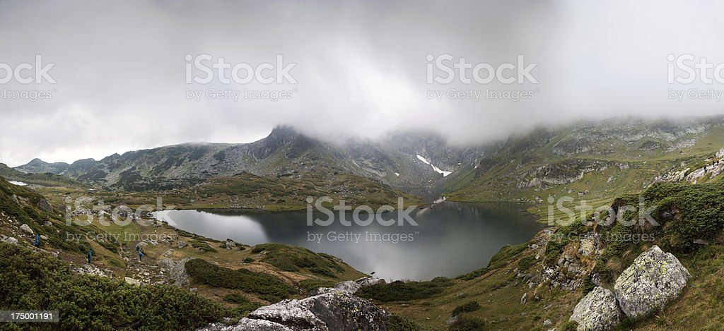 Rila mountains lakes stock photo