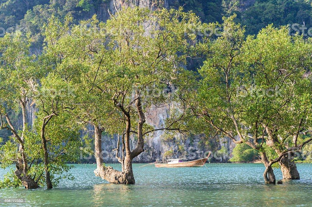Riley Beach , Krabi , Thailand stock photo