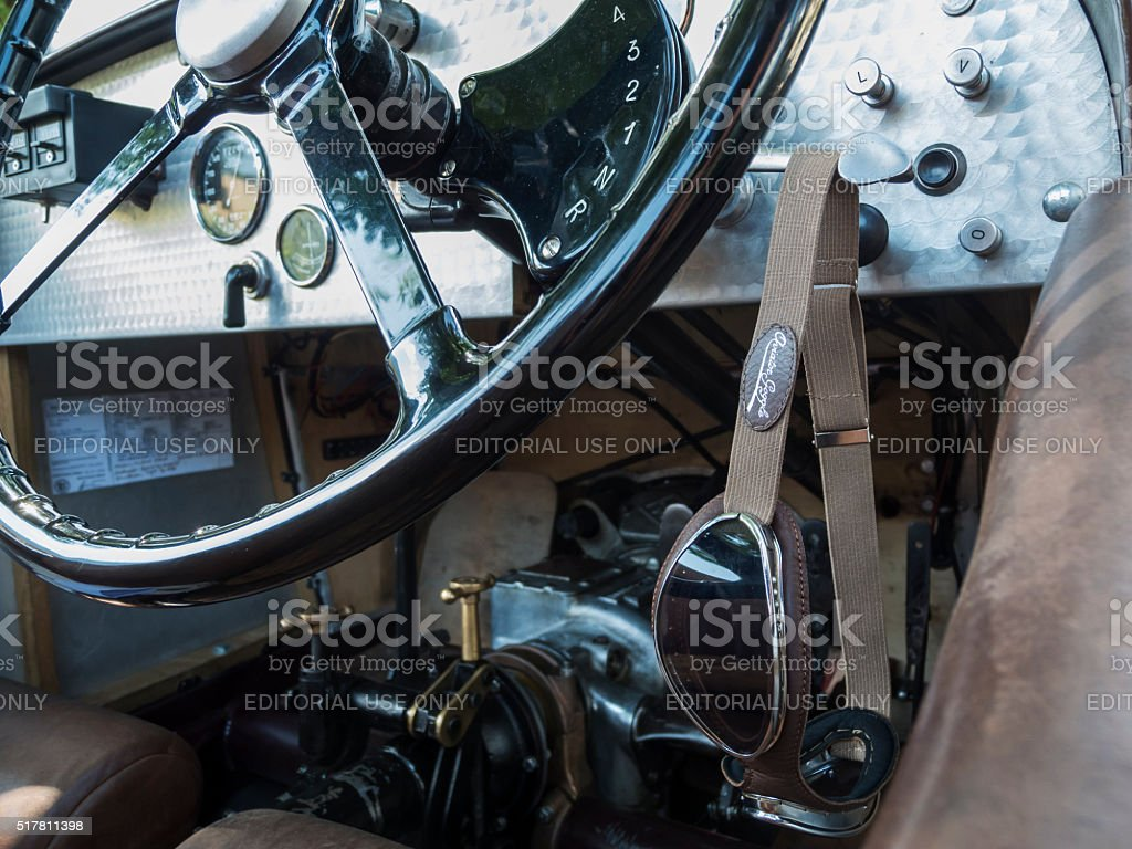 Riley Ulster Imp_Steering wheel near stock photo