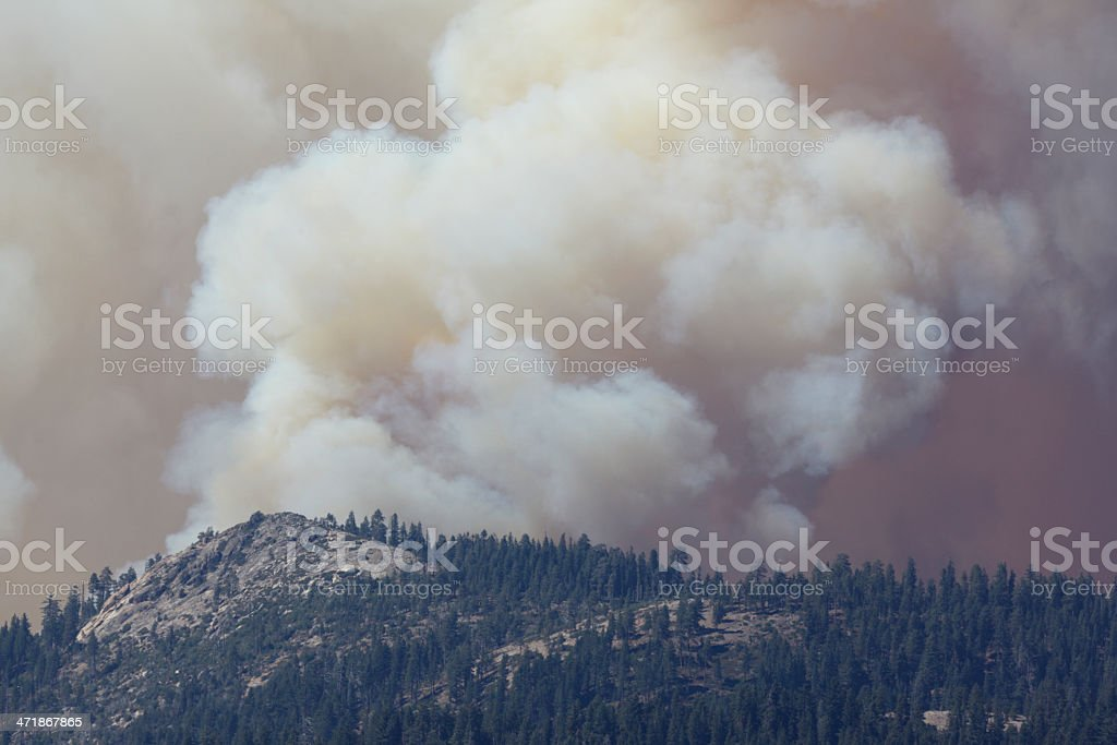 Rim Fire Yosemite National Park royalty-free stock photo