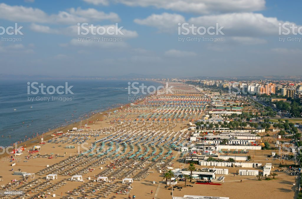 Rimini beach Adriatic sea summer season stock photo