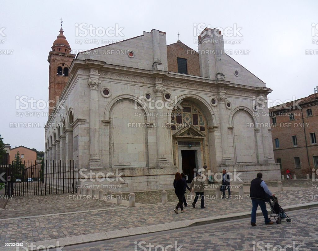 Rimini – Tempio Malatestiano stock photo
