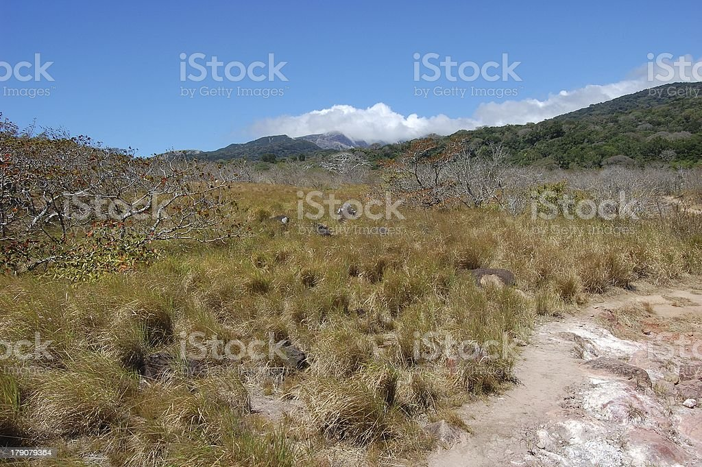 Rincon De La Vieja national park landscape, Costa Rica stock photo