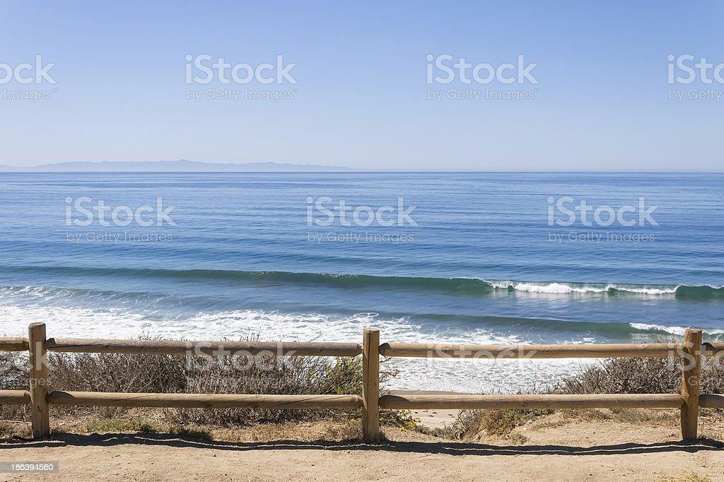 Rincon Park Fence stock photo