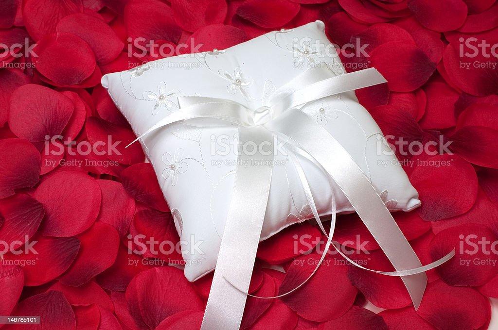 Ring Bearer's Pillow stock photo