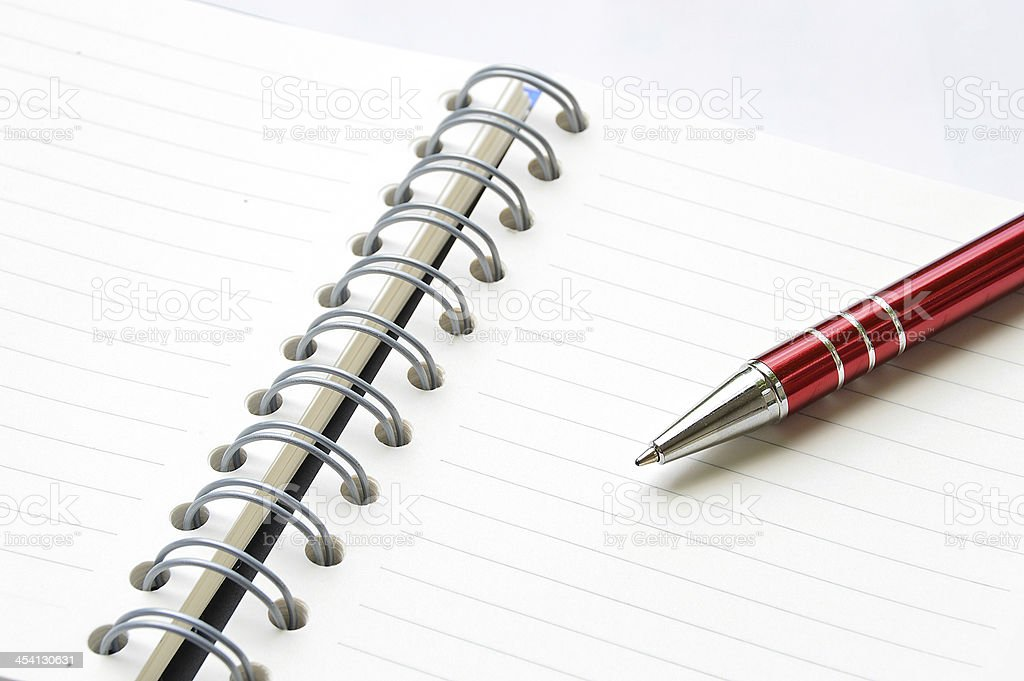 ring binder book or notebook with pen royalty-free stock photo