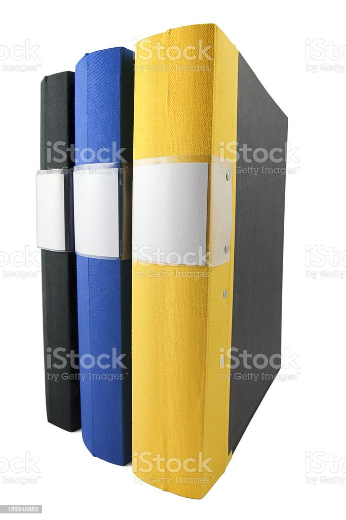 Ring binders royalty-free stock photo