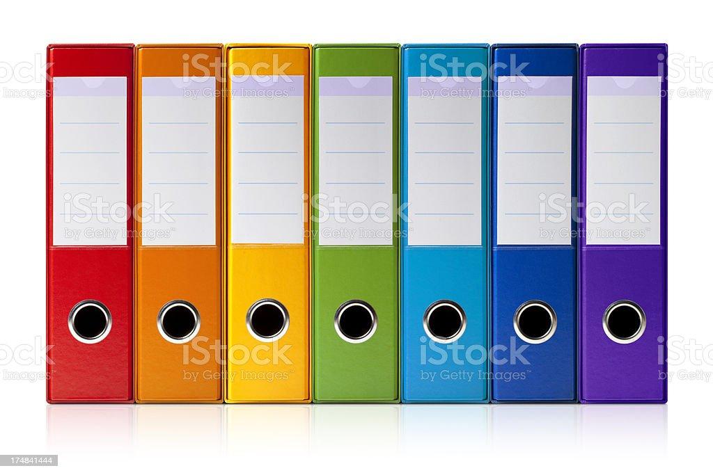 Ring binders stock photo