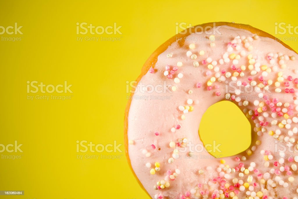 Ring Doughnut Yellow royalty-free stock photo